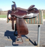 Draft Horse western saddle 4024 BROWN