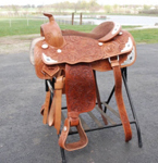 Draft Horse Western Show Saddle