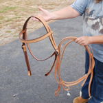 Amish made Custom made draft horse bridle
