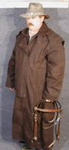 Genuine Stockman's oilskin duster - brown