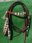 Draft size cowboy bridle and reins