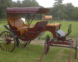Robert Carriages Classic vis-a-vis  wedding carriage