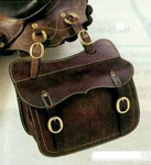 Australian premium leather saddle bag
