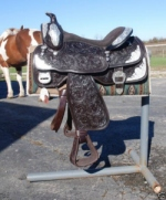 Ultimate brown Western draft Horse Show Saddle