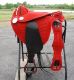 Red suede Treeless saddle